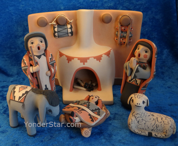 Native American Fine Art Nativity Scene from Jemez Pueblo, New Mexico