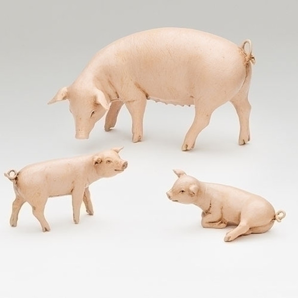 "Pig Family - 7.5"" Fontanini Nativity Farm Animals - 52800 - Pre-Order"