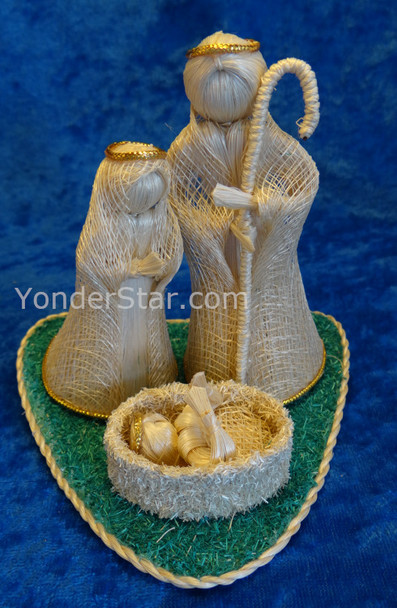 Philippines Nativity Set on Aquamarine Base