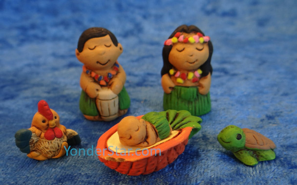 Hawaiian Nativity Set