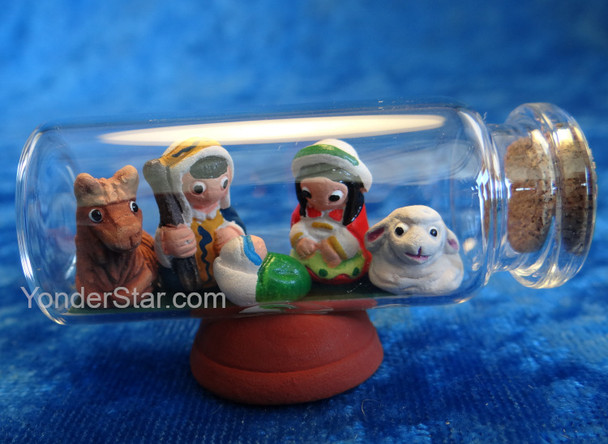 Message in a Bottle Nativity - Fair Trade from Peru