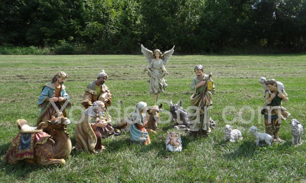 Outdoor nativity scene display