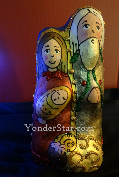 Ukrainian nativity holy family
