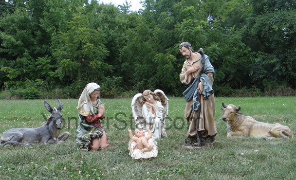 Large outdoor nativity display