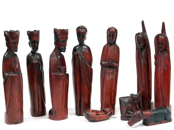 Jacaranda wood nativity set Kenya