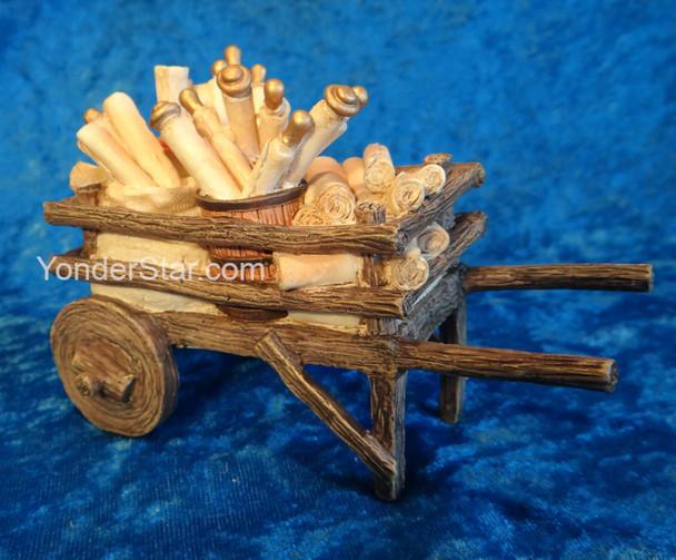 "Scroll Cart - 5"" Fontanini Nativity Accessory  55618"