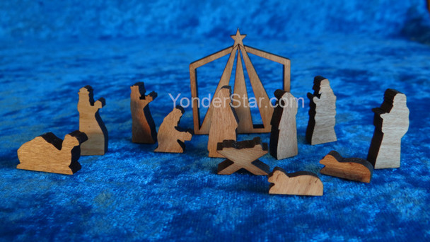 Mini Wooden Nativity Scene Made in Maine