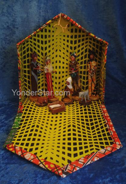 Kitenge Fabric Nativity Set from Uganda