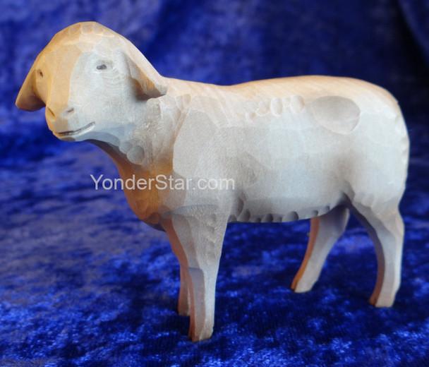 Sheep - Huggler Swiss Nativity White Sheep Looking Left