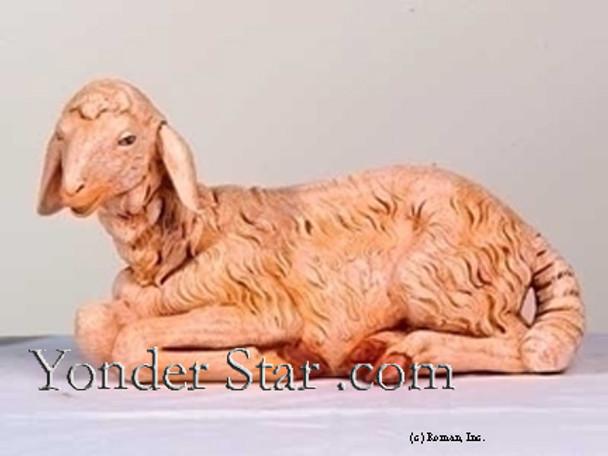 "Sheep Lying Down - 27"" Scale Fontanini Nativity Animals 53141"