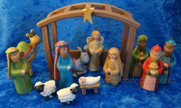 Jolly Nativity Scene 13 Pieces