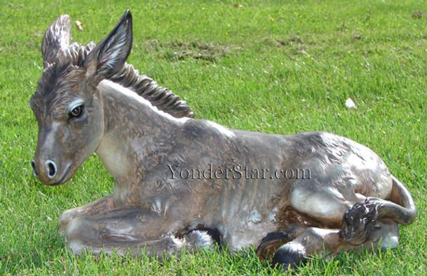 outdoor nativity donkey