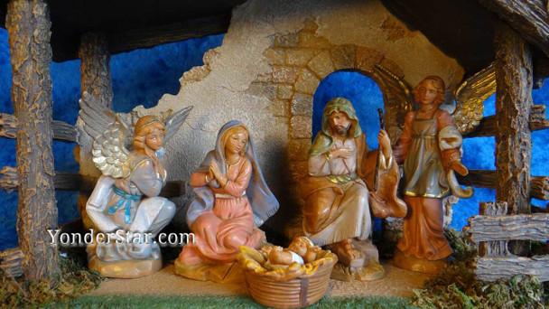 Angelic Fontanini nativity closeup