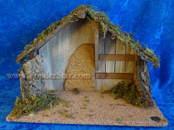 """11"""" Fontanini Wooden Stable for 5"""" Nativity Figures 50483"""