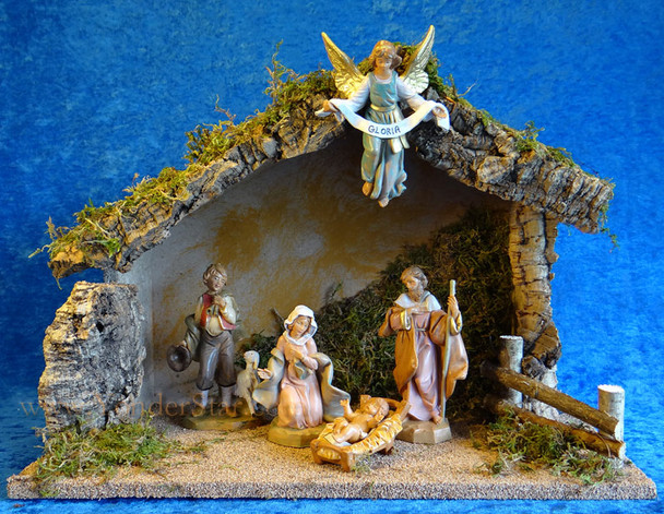 "5"" Fontanini Nativity Scene w Wooden Stable 54422"