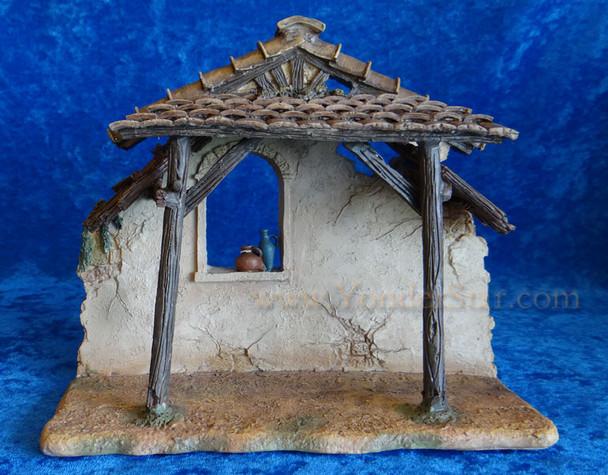 """9"""" Fontanini Resin Manger for 5"""" Nativity Figures  50468"""