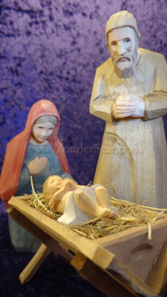Huggler carved nativity