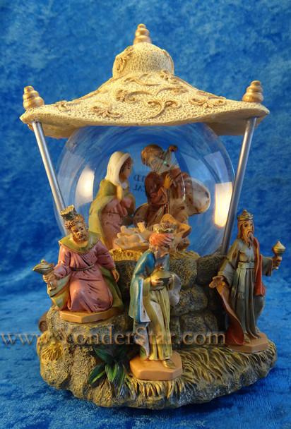 "Musical Fontanini Nativity Glitterdome ""We Three Kings"" 59082"