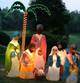 Life Size Outdoor Nativity Scene - No Wisemen - No Camel