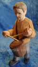 Drummer boy carved in Switzerland