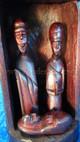 Musave Wood Nativity Hut Rwanda