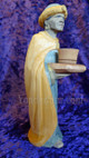 Swiss carved nativity wiseman