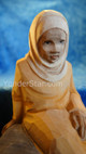 Girl Seated - Huggler Nativity Woodcarving Switzerland