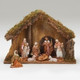 """5"""" Fontanini Nativity Scene 8 pc with 11.25"""" Wood Stable 54428"""