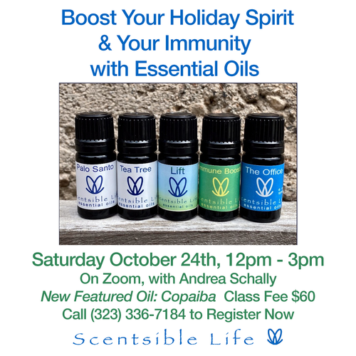 New Essential Oil Class with Andrea Schally, featuring Copaiba!