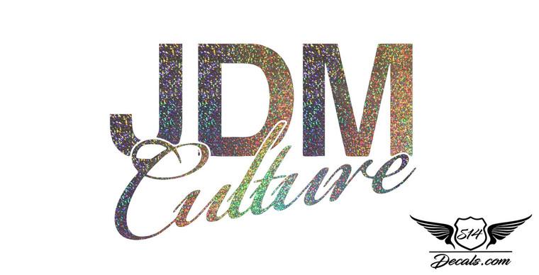 Jdm Culture Glitter Sticker Decal