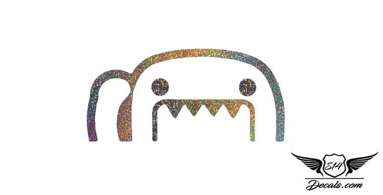 Domo Glitter Sticker Decal