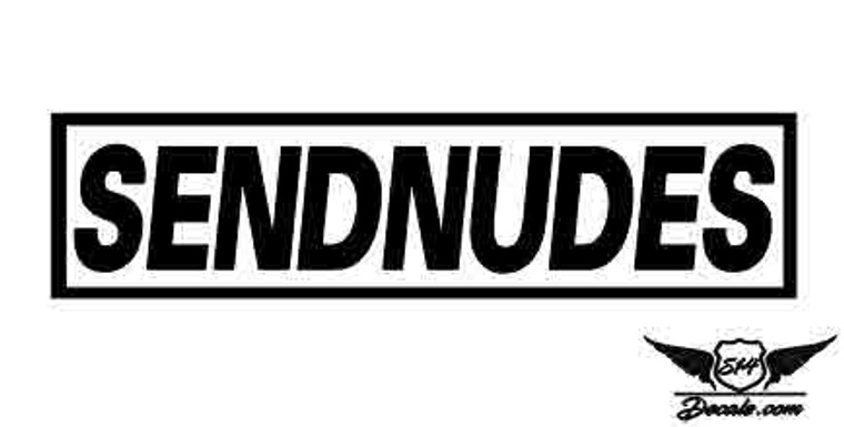 Slap SENDNUDES Sticker Decal