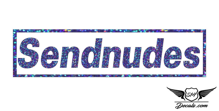 Sendnudes Blue Glitter Sticker Decal