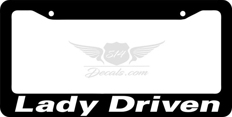 Lady Driven 2 License Plate Frame