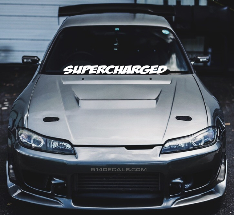 Supercharged Windshield Banner