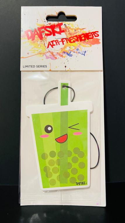 Boba Tea Green Car Air Freshener