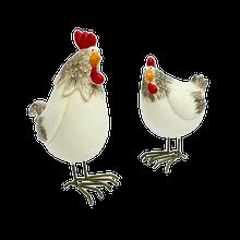 Pair of Standing Hens