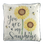 Sunflower cushion with bees and the wording 'you are my sunshine'