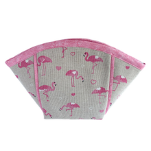 Flamingo print wash bag