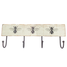 four hook bee hanging rail with 3 bee stencils.