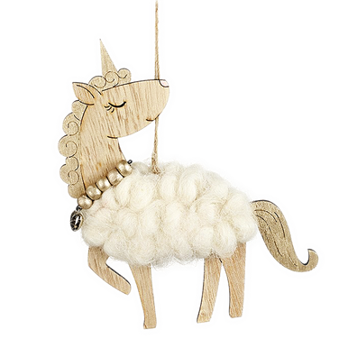 White Hanging Woolly Unicorn