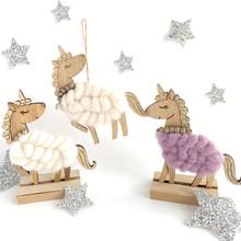 White Hanging Woolly Unicorn