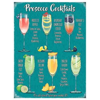 Prosecco Cocktail Recipe Sign