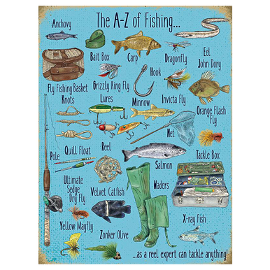 A-Z Of Fishing Sign