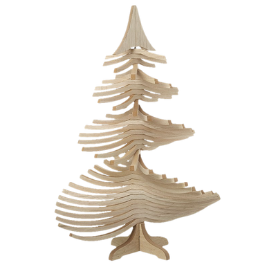 Rotating Branch Wooden Christmas Tree Decoration