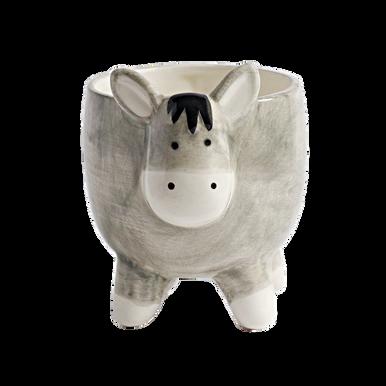Donkey shaped ceramic plant pot
