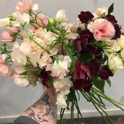 hand tied flower bouquet workshop