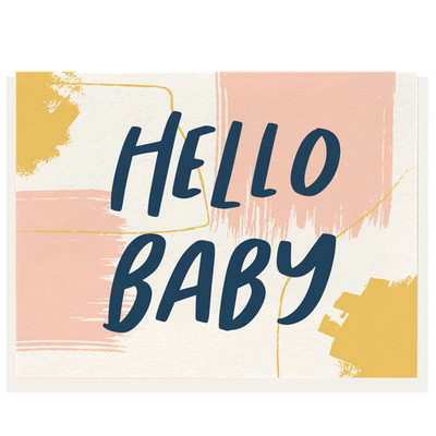 Hello Baby Letterpress Card