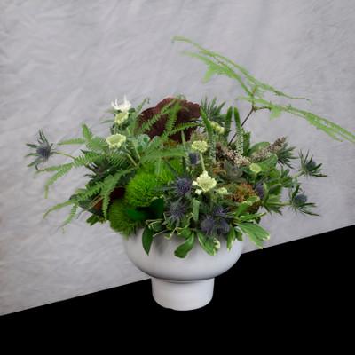 Forest Floor unique ferns, mosses, flowers, long lasting floral