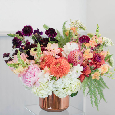 luxurious summer flowers dahlias peonies scabiosa hydrangea